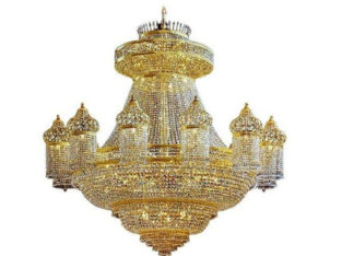 Luxury Crystal Chandelier 24-karat Gold