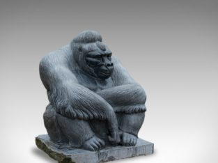 Large Sculptural marble gorilla by Dominic Hurley