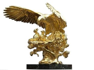 Golden Eagle Nest Sculpture ANATOLIOS