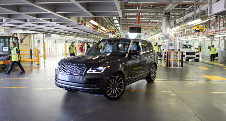 COVID-19: First Range Rover made under new social distancing measures