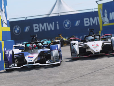 Maximilian Günther in the points at virtual home race for 'BMW i' in Berlin.