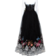 Dolce & Gabbana Black Floral Lace Overlay Strapless Ball Gown