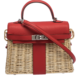Hermes Rouge Swift Leather Mini Kelly Bag