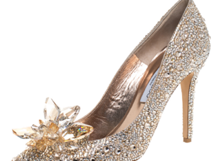 Jimmy Choo Gold Crystal Cinderella Pumps