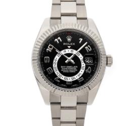 Rolex Black 18K White Gold Sky-Dweller