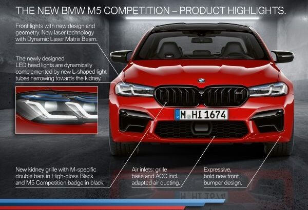 The new BMW M5 and BMW M5 Competition with photos