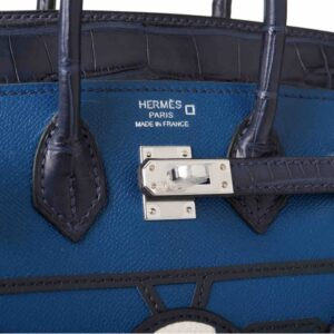 Hermès Bleu Sac Birkin Faubourg 20cm for sale