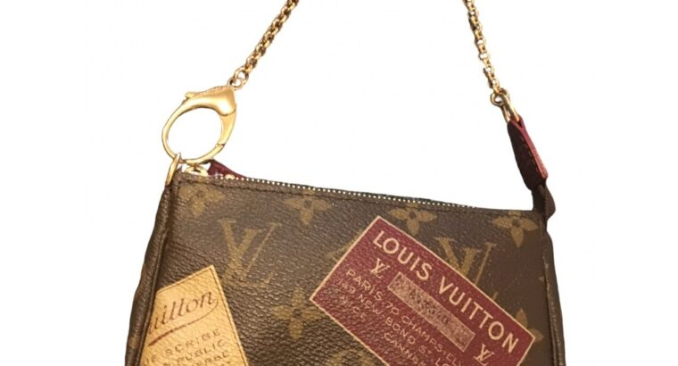 Louis vuitton gold chain clutch bag