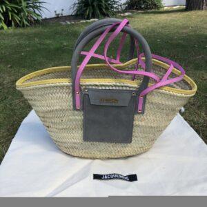 Soleil Jacquemus raffia basket for sale