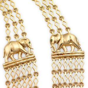 Cartier Yellow Gold Multi-Strand Elephant Necklace