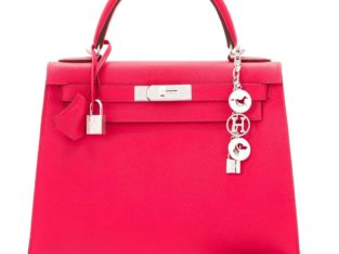 Hermes Kelly 28cm Rose Bag