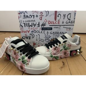 Dolce & Gabbana PORTOFINO LEATHER TRAINERS foe sale