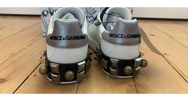 Dolce & Gabbana PORTOFINO LEATHER TRAINERS 38 EU