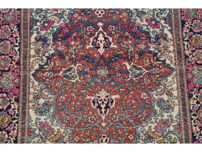 Hand-knotted Wool Persian Rug – 7'1″ x 4'5″