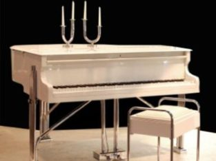 Art Deco Piano and stool of the 1930s