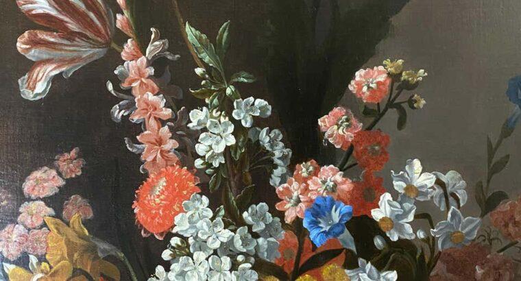 Pieter Casteels III 18TH CENTURY DUTCH FLORAL STILL LIFE