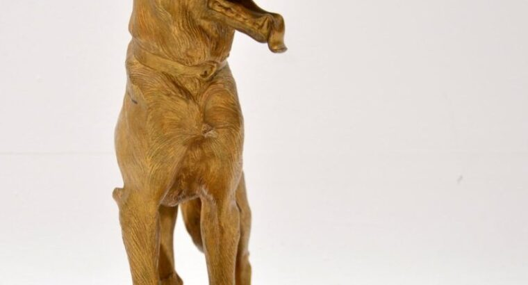 Large Bronze Dog Sculpture by Robert