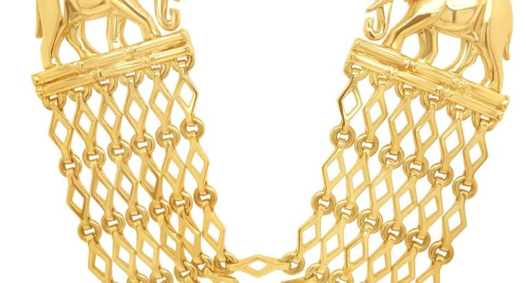 Cartier Yellow Gold Multi-Strand Elephant Necklace 126.55 g