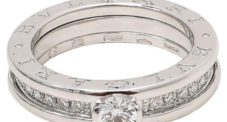 Bvlgari 18K White Gold Diamonds Ring