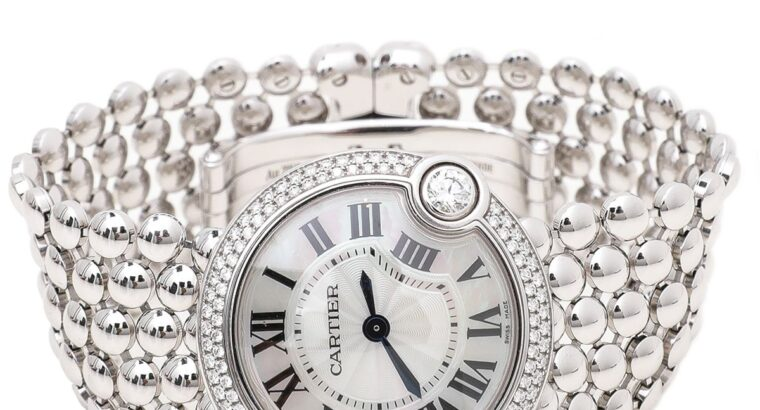 Cartier 18K White Gold Diamonds Watch