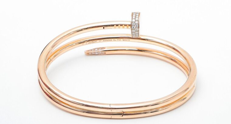 Cartier 18k Pink Gold w Diamond Bracelet 17