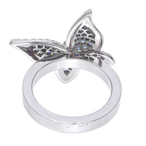 Chopard White Gold Butterfly W/ Diamonds Ring for sale