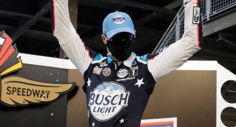 Kevin Harvick wins NASCAR Brickyard 400 in overtime after Denny Hamlin's crash