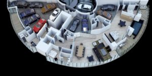 Your 1800m2 3-storey apartment at the Porsche design tower in Miami beach Florida USA
