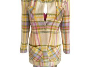Emanuel Ungaro Couture Pastel Plaid Jacket