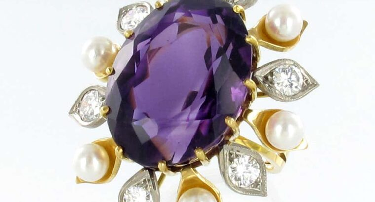 Spectacular Amethyst, Diamond and Pearl Suite