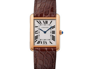 Tank Solo Watch, Large Model, 18K Pink Gold