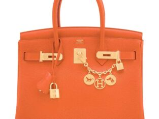 Hermes Feu Orange 30cm Birkin Gold 2020