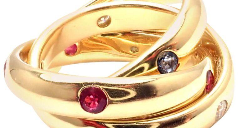 Cartier Diamond Yellow Gold Band Ring
