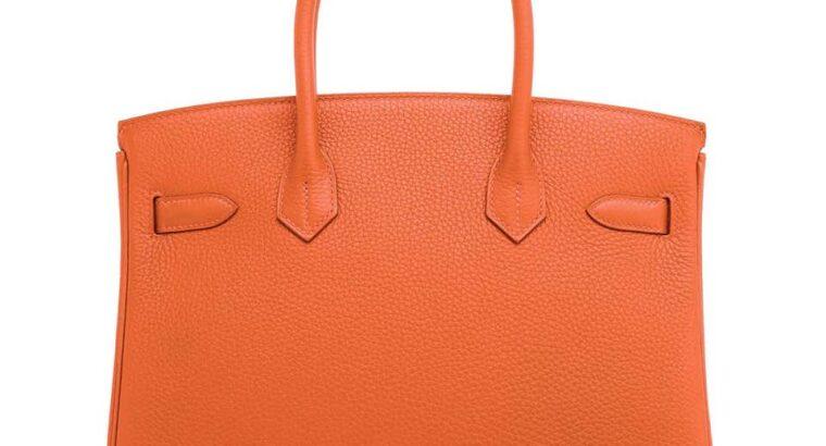 Hermes Feu Orange 30cm Birkin Gold 2020