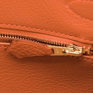 Hermes Feu Orange 30cm Birkin Gold Hardware Y Stamp, 2020 for sale
