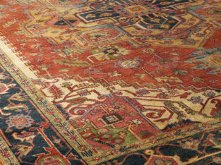 Washed Serapi Rug, 12′ x 15′ for sale