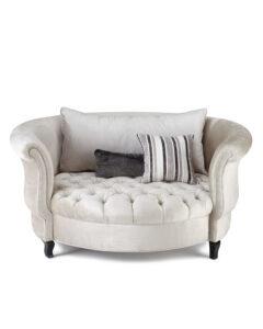 Harlow Silver Cuddle Chair | Haute House