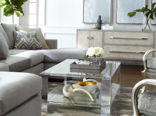 Landis Acrylic Coffee Table | Interlude Home for $3,809