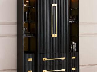 Ebony Satin Tall Cabinet | John-Richard Collection