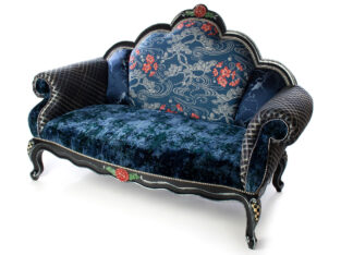 Bluetopia Settee | MacKenzie-Childs