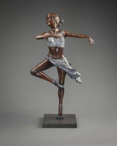 "Benson Landes Pirouette. A bronze sculpture of an elegant ballet dancer by Benson Landes 33"" High"