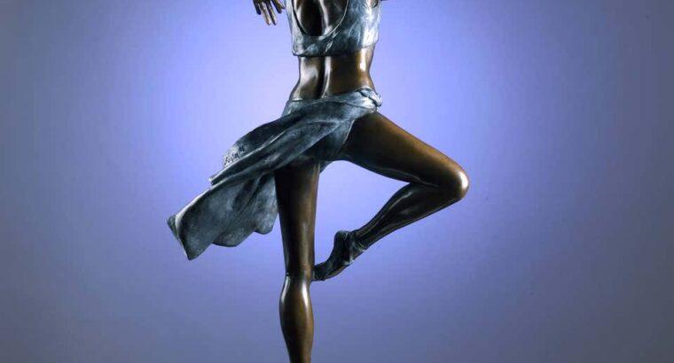 Pirouette. A bronze sculpture of an elegant ballet 33″ High