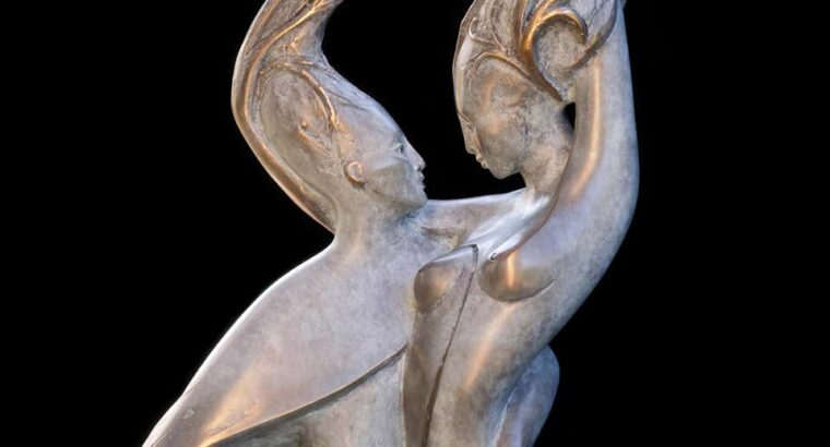 "Isabelle Jeandot ""Sap"", Vigor Nude Couple Sculpture"