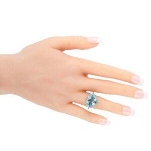 Tiffany & Co. Platinum 1.00 Carat Diamond and Aquamarine Ringfor sale