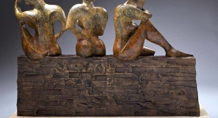 Monica Wyatt. 3 Sisters Bronze Sculpture