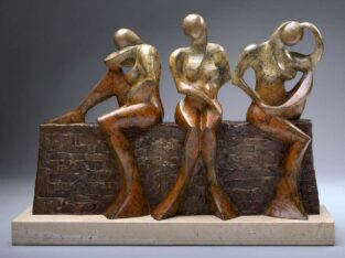 Monica Wyatt. 3 Sisters Bronze Sculpture