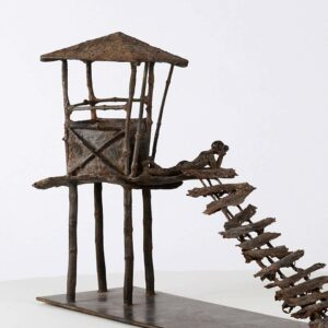 Marine de Soos The Curved Boards, Bronze Sculpture 21st century