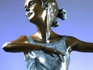 Pirouette. A bronze sculpture of an elegant ballet 33″ High