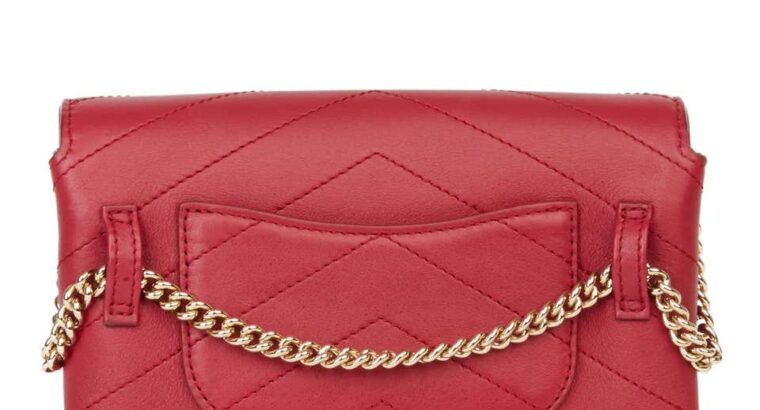 Chanel Red Leather Coco Waist Bag