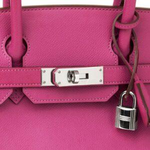 2005 Hermès Cyclamen Epsom Leather Birkin 30cm
